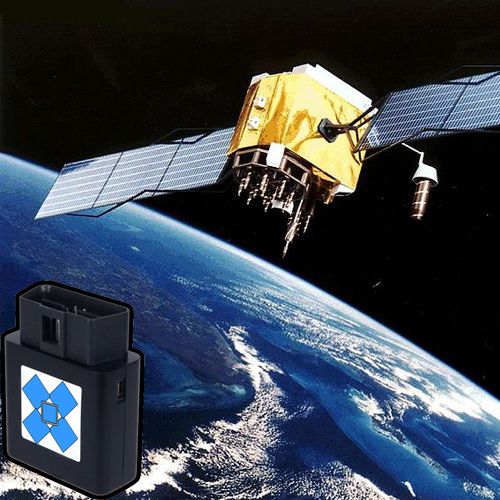 GPS Satellite and a Car Tracking Device